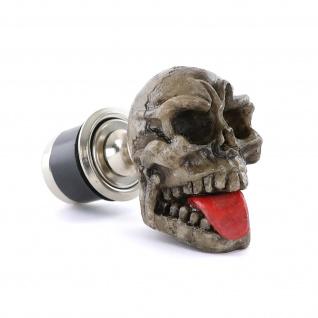 Zigaretten Anzünder Totenkopf Skull rote Zunge