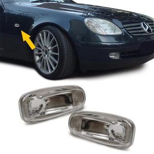 Klarglas Seitenblinker chrom für Mercedes Sprinter Vito W210 SLK R170