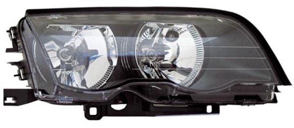 H7 / H7 Scheinwerfer schwarz rechts TYC für BMW 3ER Limousine Touring E46 98-01