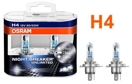 Night Breaker Unlimited H4 60/55W 12v Osram Halogen Leuchtmittel - Vorschau 2