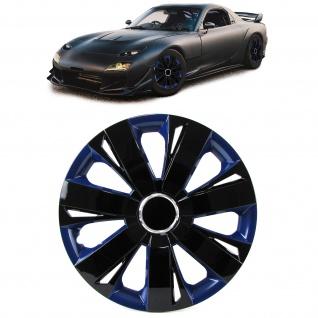 Radkappen Radzierblenden Tenzo-R XI für Stahlfelgen 14 Zoll schwarz blau