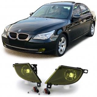 Nebelscheinwerfer Set Gelb + H8 Leuchtmittel für BMW E60 E61 LCI Facelift 07-10