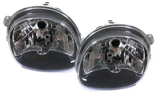 Klarglas Scheinwerfer schwarz - Paar für Renault Twingo 93-07