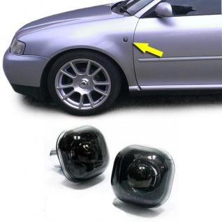 Klarglas Seitenblinker Blackchrom für Audi A3 A4 Fabia Octavia