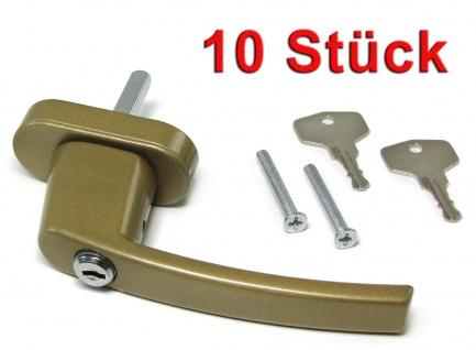 Sicherheits Fenstergriff Griffe abschließbar aus Metall gold 10 Stück
