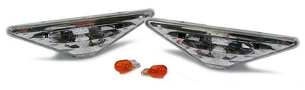 Klarglas Seitenblinker Kristall weiß für Ford Focus 98-04 + Mondeo 00-07