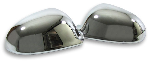 Chrom Spiegel Kappen Abdeckungen Cover 2-teilig für VW Golf 5 03-08