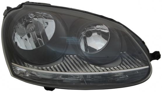 H7 / H7 Scheinwerfer schwarz rechts TYC für VW Golf V GTI 03-09