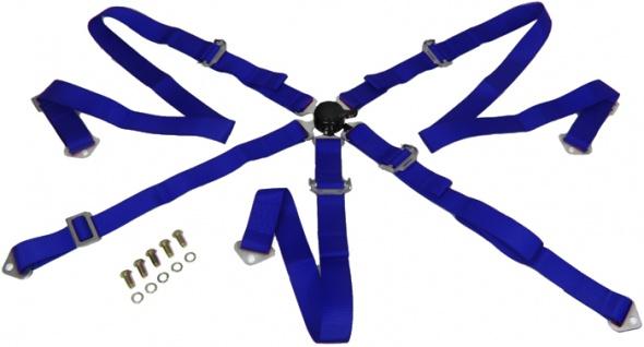 Hosenträgergurt 5 Punkt blau Tenzo-R Rennsport