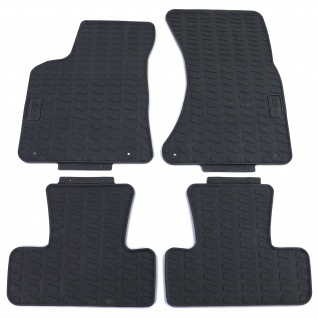 Premium Gummi Fußmatten Set 4-teilig Schwarz für Audi Q5 8R 09-17