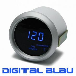Öldruck Anzeige Zusatz Instrument 52mm digital Magic blau