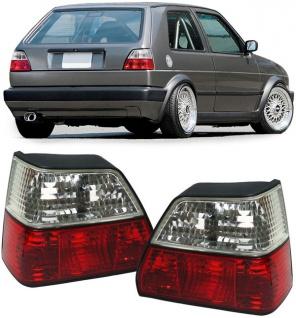 Rückleuchten rot weiß Kristall - Paar für VW Golf II 2 83-91