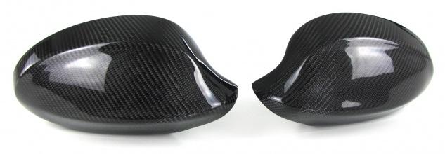 Echt Carbon Spiegelkappen zum Austausch für BMW 3er E90 E91 Vorfacelift 05-08