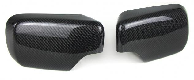 Echt Carbon Spiegelkappen zum Austausch für BMW 3er E46 Limousine Touring 98-05