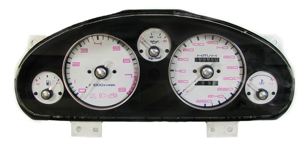 Tachonadel Blenden Edelstahl - Set für Mazda MX-5 Mx5 NA