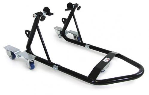Motorrad Montage Ständer rollbar Kompakt Variabel mit 2 Haltern schwarz 340kg - Vorschau 2