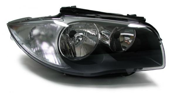 Scheinwerfer H7 H7 schwarz rechts für BMW 1ER E81 E82 E87 E88 ab 07