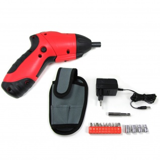 Mini Akku Schrauber klein mit Tasche Bits und LED Beleuchtung 3, 6 Volt