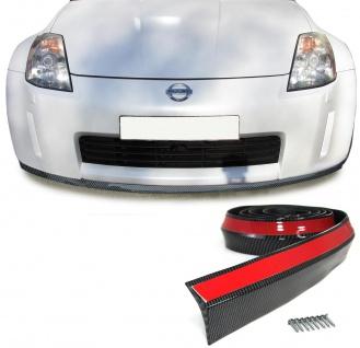 Front Spoiler Lippe Seiten Schweller universal flexibel 2, 5mx6, 5cm Carbon Look