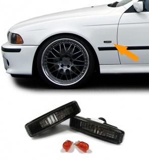 Klarglas Seitenblinker schwarz für BMW 5er E39 95-03