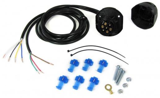 7-polige 12V KFZ Auto Anhänger Trailer Steckdose Anschluss Set mit 1.5 m Kabel