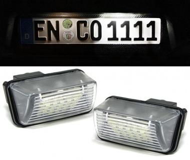 LED Kennzeichenbeleuchtung weiß 6000K für Peugeot 206 207 306 307 407 5008