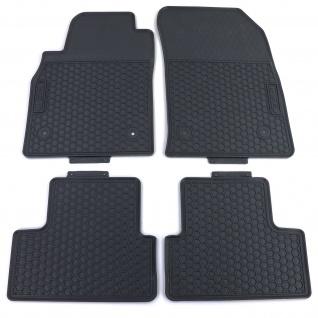 Premium Gummi Fußmatten Set 4-teilig Schwarz für Opel Astra J 09-15