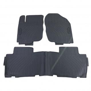 Premium Gummi Fußmatten Set 4-teilig Schwarz für Toyota RAV4 A3 05-13