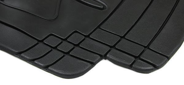 Universal Auto Gummi Fußmatten Set NBR 4-teilig zuschneidbar schwarz - Vorschau 2