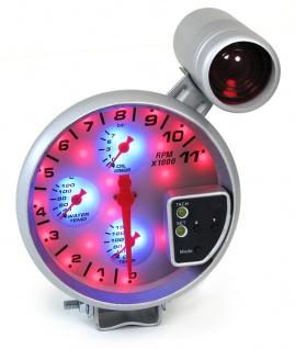 4 in 1 Multi Instrument Drehzahlmesser Öldruck Wasser mit Shiftlight 5 Zoll - Vorschau 1