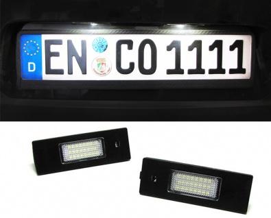 LED Kennzeichenbeleuchtung weiß 6000K für BMW 1ER E81 6er E63 Z4 Mini R55