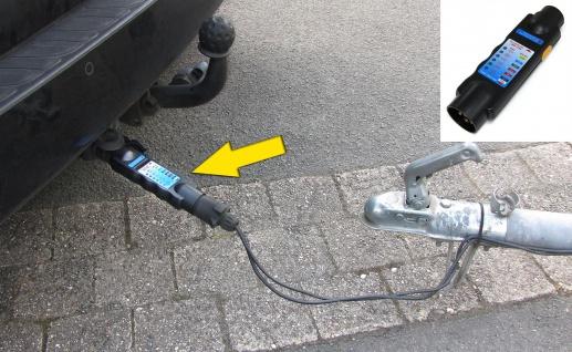 Auto Anhänger Stecker Prüfgerät Funktions Beleuchtungs Tester 7 polig für 12v