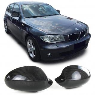 Echt Carbon Spiegelkappen Spiegelcover für BMW 1er E81 E82 E87 E88 03-09