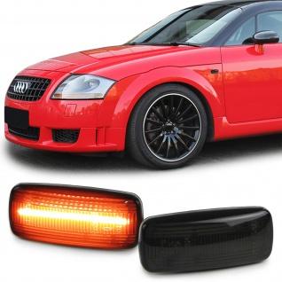 Lightbar Seitenblinker Schwarz Smoke für Audi A2 8Z A3 8L A4 B5 A6 C5 A8 TT 8N