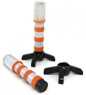 ** LED Notfall Stand Warn Leuchte orange Unfall Absicherung + Taschenlampe Funktion