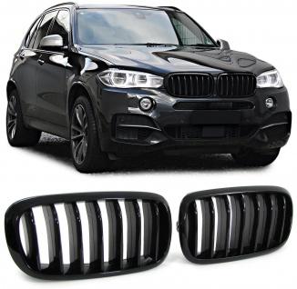 Sport Nieren Kühlergrill schwarz glänzend für BMW X5 F15 ab 12
