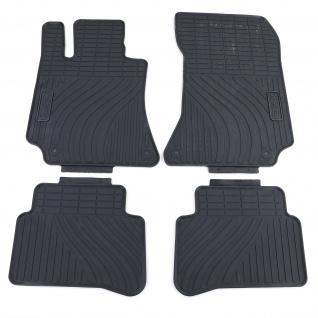 Premium Gummi Fußmatten Set 4-teilig Schwarz für Mercedes E-Klasse W212 09-16
