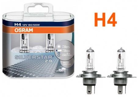 Osram Silverstar 2.0 H4 60/55W 12v Halogen 2 Stück IM Duopack