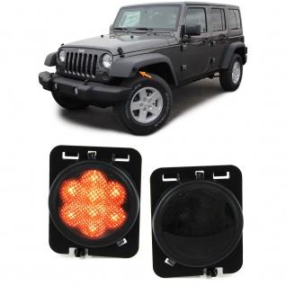 LED Seitenblinker schwarz für Jeep Wrangler JK 07-17