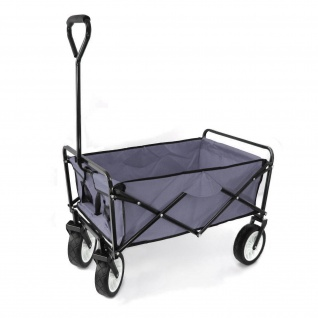 Garten Transport Faltwagen Handwagen Bollerwagen klappbar bis 80kg grau