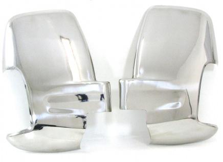 Spiegelkappen Abdeckungen Chrom Edelstahl für Ford Transit V363 ab 14