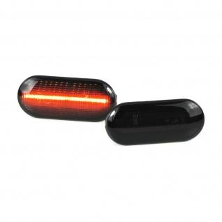 LED Lightbar Seitenblinker schwarz für VW Bora Golf Polo Seat Leon Ford Fiesta - Vorschau