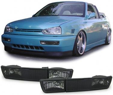 Klarglas Blinker mit Standlicht schwarz für VW Golf 3 91-97