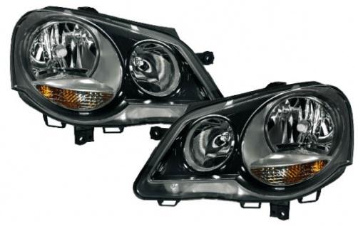 GTI Cup Scheinwerfer schwarz - Set für VW Polo 9N3 05-09