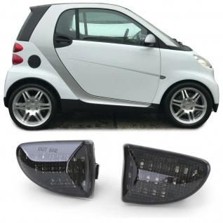 LED Seitenblinker Schwarz für Smart Fortwo Cabrio Coupe 451 ab 07