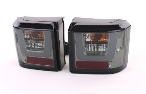 LED Lightbar Rückleuchten Schwarz Smoke Paar für VW T4 Bus Transporter 90-03