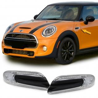 LED Seitenblinker mit schwarzer Blende für Mini Cooper F56 ab 13