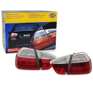 Originale Hella Klarglas Rückleuchten rot klar Paar für BMW 3ER E90 Limousine