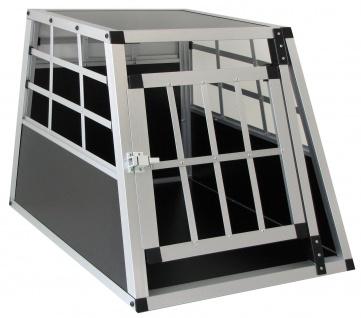 Alu Hunde Tier Reise Auto Transportbox mit Tür XL 69x50x54cm - Vorschau