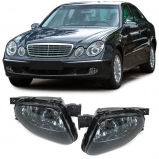 Klarglas Nebelscheinwerfer H11 schwarz smoke Paar für Mercedes E W211 02-06